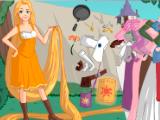 Flash игра для девочек Одевалка рапунцель
