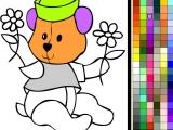 Раскрась мишку
