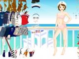 Flash игра для девочек Одень девушку-моряка 2