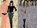 Flash игра для девочек Одень Анджелину Джоли и Брэда Питта
