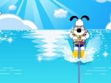 Щенок на водных лыжах