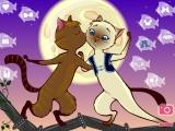 Flash игра для девочек Кошачий поцелуй
