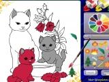 Раскрась кошек