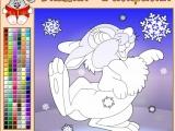 Раскраски: Симпатичный зайчонок