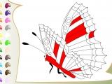 Игра Раскраски: Big Butterfly