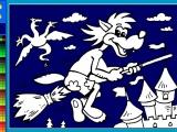 Раскраски: Ну Погоди - Волк на метле