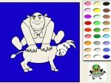 Раскраски: Coloring Shrek And Donkey