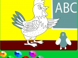 Раскраски: ABC - The Hen