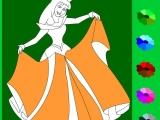 Раскраски: Золушка в платье