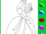Раскраски: Принцесса с веером