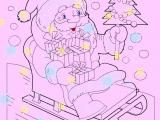 Раскраски: Новогодний Дед Мороз