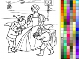 Раскраски: Белоснежка и семь гномов 2