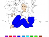 Раскраски: Принцесса Жасмин