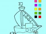 Раскраски: Кораблик 2