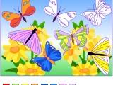 Раскрась бабочек