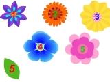 Цветочки. Учим цифры