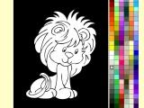 Раскраски: Львенок