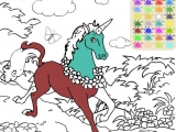 Раскраски: Mythical Unicorn