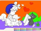 Раскрась девочку 2 - Paint Girl Drawing
