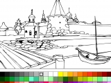 Игра Раскраски: Русский пейзаж