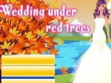 Свадьба под красными деревьями