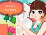 Flash игра для девочек Tessas New Home - Декорации нового дома