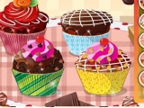 Four Chocolate Cupcakes Decoration