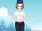 Stewardess Dress-Up Game