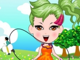 Cute Jump-Rope Girl Dress-Up