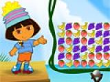 Игра Dora Fruit Slingshot