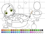 Little Princess bath coloring