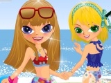 Sisters Getting Ready To Go To The Beach