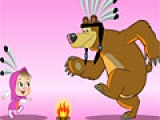 Игра Masha and bear magic pazzle