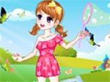 Игра Girl Catching Butterflies