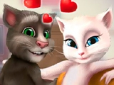 Говорящий Том и Анджела: Поцелуи