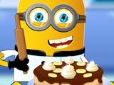 Миньон Готовит Банановый Торт