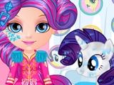 Малышка Барби и маленькие пони