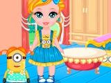 Малышка-Барби и миньоны