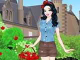 Белоснежка в яблочном саду