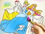 Раскраска диснеевских принцесс