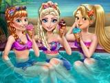 Вечеринка принцесс у бассейна