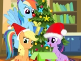 Празднование рождества с пони