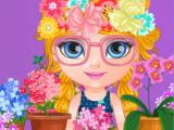 Малышка Барби - ленивый продавец цветов