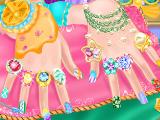 Дизайн ногтей для ледяной принцессы