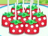 Попкейки в форме клубники