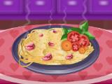 Спагетти с базиликом и чесноком