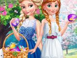 Пасхальное веселье Эльзы и Анны