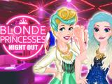 Блондинка-принцесса на вечеринке