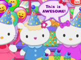 Эмодзи-вечеринка Hello Kitty