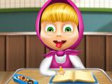 Маша на школьных занятиях